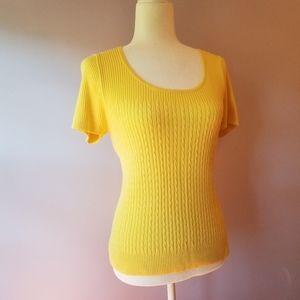 3/$27 Sweater | Short Sleeve | Yellow